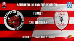 Southern Inland Rugby Union Round 7 - Tumut Bulls v CSU Reddies Slate Image