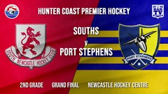 Hunter Coast Premier Hockey Grand Final - 2nd Grade - South Newcastle v Port Stephens Hornets (1) Slate Image
