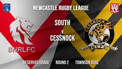 Newcastle Rugby League Round 2 - Reserves Grade - South Newcastle v Cessnock Goannas Slate Image
