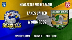 Newcastle Rugby League Round 6 - Reserves Grade - Lakes United v Wyong Roos Slate Image