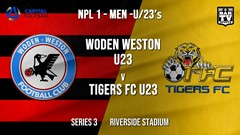 NPL1 Men - U23 - Capital Football  Series 3 - Woden Weston U23 v Tigers FC U23 (1) Slate Image
