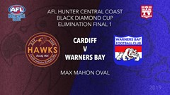 AFL HCC Elimination Final - Cup - Cardiff Hawks v Warners Bay Bulldogs Slate Image