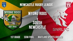 Newcastle Rugby League Semi Final - 1st Grade - Wyong Roos v South Newcastle Slate Image