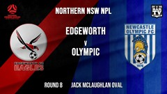 NPL - NNSW Round 8 - Edgeworth Eagles FC v Newcastle Olympic Slate Image