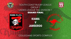 Group 7 South Coast Rugby League Grand Final - LLT1 -  Kiama Knights v Jamberoo Slate Image