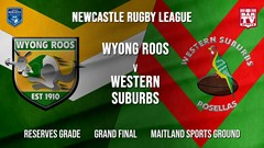 Newcastle Rugby League Grand Final - Reserves Grade - Wyong Roos v Western Suburbs Rosellas Slate Image
