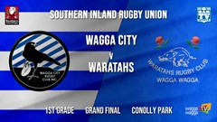 Southern Inland Rugby Union Grand Final - 1st Grade - Wagga City v Wagga Waratahs Slate Image