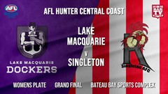 AFL HCC Grand Final - Womens Plate - Lake Macquarie Dockers v Singleton Roosters Slate Image