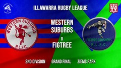 IRL Grand Final - 2nd Division - Western Suburbs Devils v Figree Crushers Slate Image