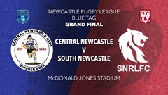 2019 Newcastle Rugby League Grand Final - Blues Tag - Central Newcastle v South Newcastle Slate Image