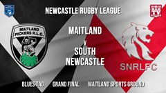 Newcastle Rugby League Grand Final - Blues Tag - Maitland Pickers v South Newcastle Slate Image