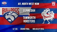 AFL North West - NSW Grand Final - U/14s - Gunnedah Bulldogs v Tamworth Roosters (1) Slate Image