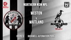 NPL - NNSW Round 3 - Weston Workers FC v Maitland FC Slate Image