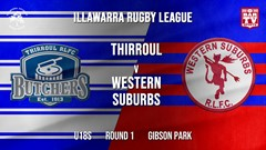 IRL Round 1 - U18s - Thirroul Butchers v Western Suburbs Devils Slate Image