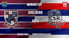 Monaro Cup Grand Final - 2nd Grade - Goulburn v Australian Defence Force Academy Slate Image