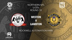 NPL Youth - Northern NSW Round 18 - Weston Bears FC v Lambton Jaffas FC Slate Image