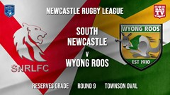 Newcastle Rugby League Round 9 - Reserves Grade - South Newcastle v Wyong Roos Slate Image
