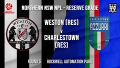 NPL NNSW RES Round 5 - Weston Workers FC (Res) v Charlestown Azzurri FC (Res) Slate Image
