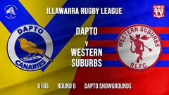 IRL Round 9 - U18s - Dapto Canaries v Western Suburbs Devils Slate Image