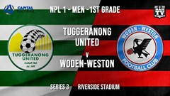 NPL - CAPITAL Series 3 - Tuggeranong United FC v Woden-Weston FC Slate Image