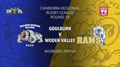 CRRL Round 14 - 1st Grade - Goulburn Workers Bulldogs v Woden Valley Rams Slate Image