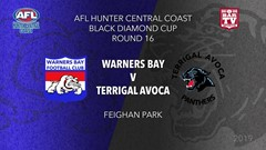 AFL HCC Round 16 - Cup - Warners Bay Bulldogs v Terrigal Avoca Panthers Slate Image