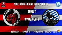 Southern Inland Rugby Union Round 10 - 1st Grade - Tumut Bulls v Wagga City Slate Image