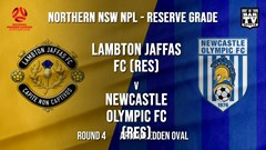 NPL NNSW RES Round 4 - Lambton Jaffas FC (Res) v Newcastle Olympic FC (Res) Slate Image