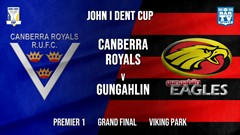 MINI GAME: John I Dent Grand Final - Premier 1 - Canberra Royals v Gungahlin Eagles Slate Image