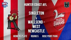 AFL HCC Round 5 - Womens Plate - Singleton Roosters v Wallsend - West Newcastle  (1) Slate Image
