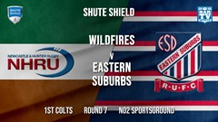Shute Shield Round 7 - 1st Colts - NHRU Wildfires v Eastern Suburbs Slate Image