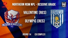 NPL NNSW RES Round 14 - Valentine Phoenix FC (Res) v Newcastle Olympic (Res) Slate Image