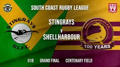 Group 7 RL Grand Final - U18 - Stingrays of Shellharbour v Shellharbour Sharks Slate Image