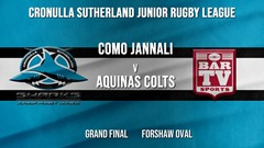 Cronulla JRL Grand Final - U/13s Gold - Como Jannali Crocodiles v Aquinas Colts Slate Image