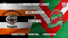 IRL Grand Final - Women's Open - Helensburgh Tigers v Corrimal Cougars Slate Image