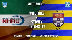 Shute Shield Semi Final - Women's - NHRU Wildfires v Sydney University Slate Image