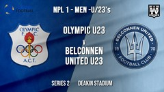 NPL1 Men - U23 - Capital Football  Series 2 - Canberra Olympic U23 v Belconnen United U23 Slate Image